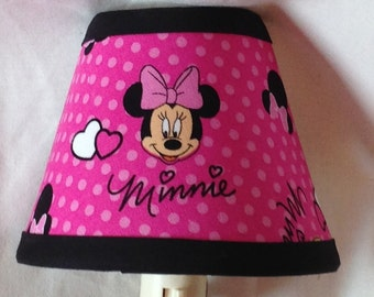 Disney Minnie Mouse Pink Fabric Children's Night Light