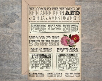 Printable Vintage Wedding Program