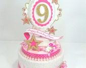 Custom American Girl Birthday Cake Topper