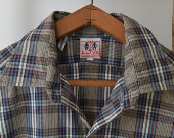 Vintage french deadstock ELTVA Checked shirt