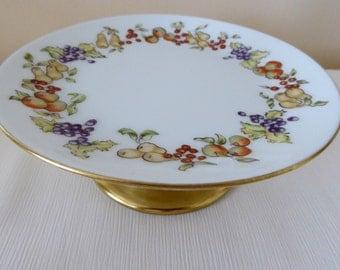 hand painted Limoges, bon bon dish, decorative bowl, porcelain bowl, fruit design