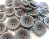15 Ash Gray Cupped Flower Round Buttons Size 11/16""