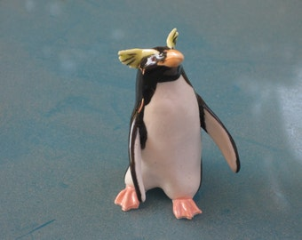 Rock Hopper Penguin made of clay