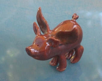 Flying Pig made of clay