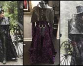 Evil Queen Once Upon A Time Inspired Cosplay Coat and Capelet