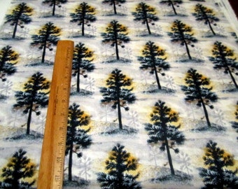 Native Pine Trees Allover premium cotton fabric from Quilting Treasures - pine trees, nature, lodge
