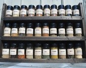 Large Rustic Spice Rack - Holds 30+ spices - Green Coyote Woodworking - Spice Rack to Hold Spice Jars