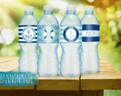 Happy Birthday Nautical Water Bottle Labels