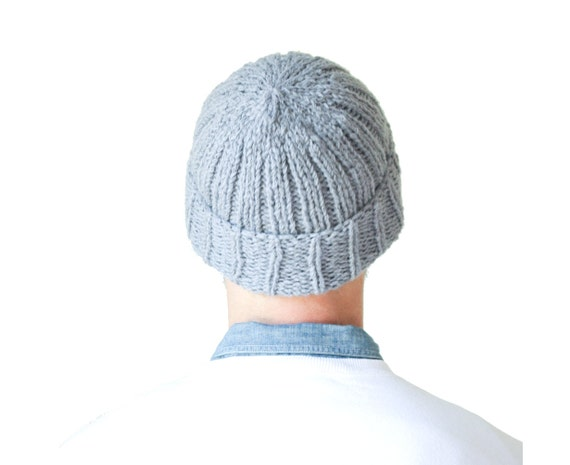 Softest Wool Alpaca Beanie for Men, designed and hand knit in Canada