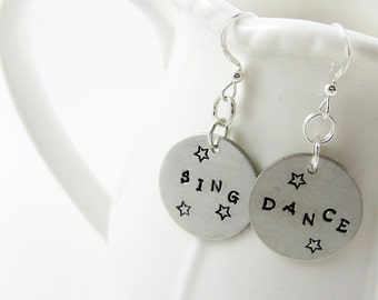 Musical Theatre Jewelry (Sing and Dance Earrings, Music Theater Gift for Actor, Dancer, Singer)