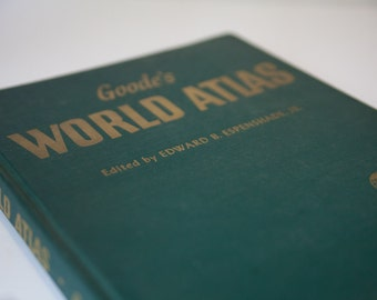 World Atlas Maps of the World, Vintage Book,  Instant Library, Decorations, Shabby Chic