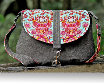 The Camellia Cross Body Bag - PDF SEWING PATTERN
