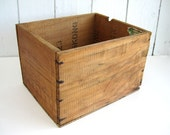 Vintage Wood Crate Wooden Box APO Shipping Surgical Hospital History Small Toy Book Storage Rustic Primitive
