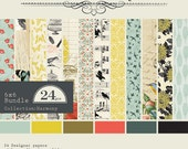 6x6 Nature Themed Paper Pad from Authentique - Harmony