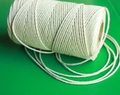SALE 2 mm Cotton Yarn = 1 Spool = 110 Yards = 100 Meters Natural and Elegant COTTON Twisted CORD - ercu cotton - bare cotton - organic rope
