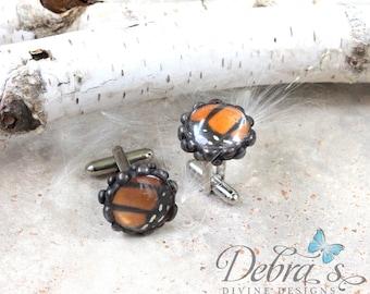 Handmade Monarch Butterfly Cufflinks, Monarch Conservation