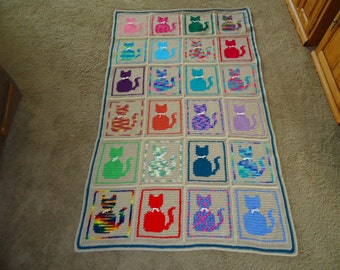 Cats Galore Afghan