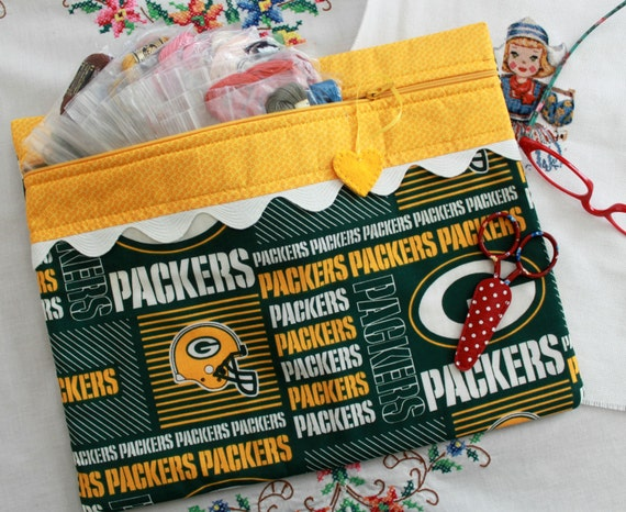 Green Bay Packers Cross Stitch, Sewing, Embroidery Project Bag