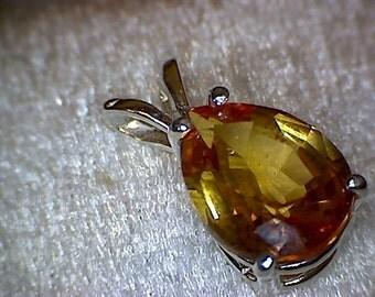 Beautiful Padparadscha Sapphire Pendant