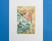 The Princess and the Frog - Print from a Vintage Ladybird Book, The Princess and the Frog