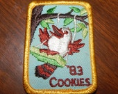 Vintage Girl Scout Day Camp 1983 Cookie Patch