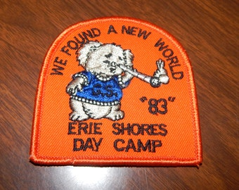 Vintage Girl Scout Day Camp 1983 Patch - Erie Shores