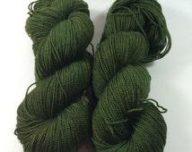 Merino Silk Twist, Fingering, Hand Dyed Yarn, Great Green Globs, Superwash Merino, Silk, Sock Yarn, shawl yarn, silk yarn