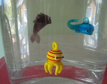 Floating Glass Figurine Three Pack