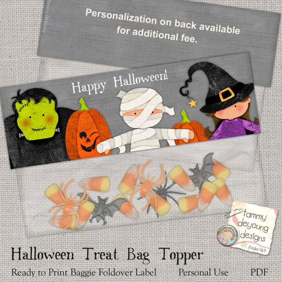 Halloween Treat Bag Topper *Halloween Labels* Party Favors Printable ...