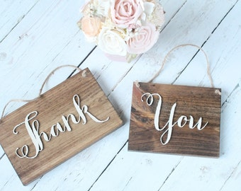 Thank You Sign Rustic Wedding Thank You Sign Wood Thank You Plaque Thank You Table Sign Thank You Plaque Barn Wedding Sign Rustic