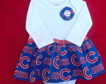 Chicago Cubs Baby/Toddler Bodysuit Dress