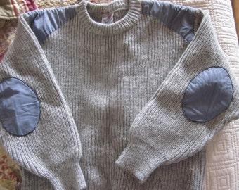 vintage stobi wool sweater sz l very heavy wool made in denmark