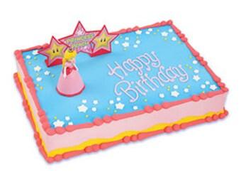 Princess Peach Cake Topper/ Super Mario Brothers/