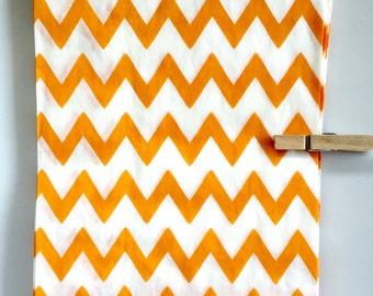 SALE Orange Chevron Striped Party Favor Bags, 24 5x7 Chevron Striped Paper Bags