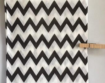 SALE Black Chevron Striped Party Favor Bags, 24 5x7 Chevron Striped Paper Bags, Halloween Candy Bags