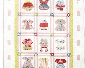 Pearl Louise Designs Baby Girl Quilt McCalls Crafts Pattern M6412 Dimensional Quilt for a Baby Girl UnCut