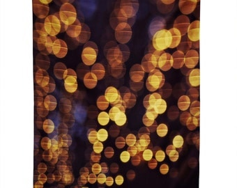 Wall Tapestry. Dorm Wall Decor. Large Wall Art. Bokeh. Sparkling Lights. Gold and Navy Home Decor. Night. Glam. Girly. Glow. Pretty