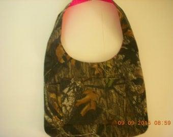 Mossy Oak Breakup Camo and Pink Leopard Print Hobo Boho Style Purse Bag Tote