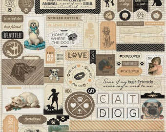 """Authentique Paper Collection """"Devoted"""" 12x12 Stickers"""