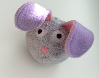 Dust Bunny - Squeaky Dog Toy - Grey