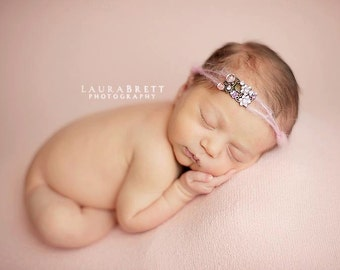 Gold Leaf Mohair Tieback/ Newborn to Adult/ Photography Prop / Complimentary Shipping