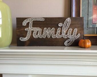 Custom made string art - Family