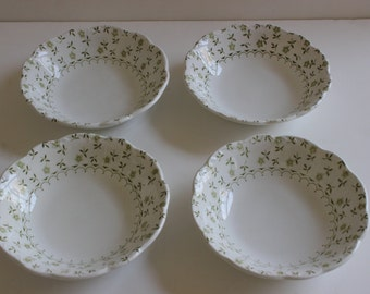 Set of 4 Ironstone Bowls--Forget-Me-Not Ironstone--Vintage Ironstone