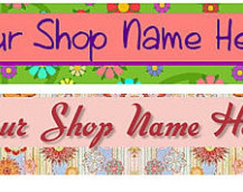 Premade Retro Hippie Mod Vintage Banner and Avatar - You Pick One