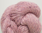 Pink Violet Heathered Wool Blend Reclaimed Yarn, 757 Yards Available
