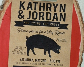Pig Roast Invitation, I Do BBQ, Pig Roast Party, BBQ Invitation, Couple Shower Invitation, Kraft Invitation, Rehearsal Dinner,