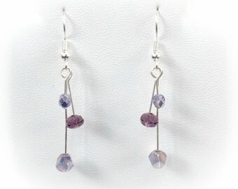 Fairy Wings Lavender and Purple Earrings