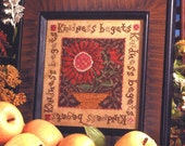 Kindness Sampler : Birds of a Feather cross stitch patterns hand embroidery