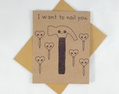 Funny Naughty Card - Funny Greeting Card - Cute Card - Dirty Card - Valentines Card - Sexy Card - Love Card - Card for Boyfriend - Mature