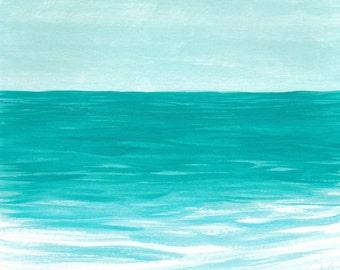 Ocean Art, Coastal Wall Art, Large Wall Art, Turquoise Wall Art, Teal, Waves, Beach Decor, Sea Art, Nature, Aqua, Home Decor, Beach House